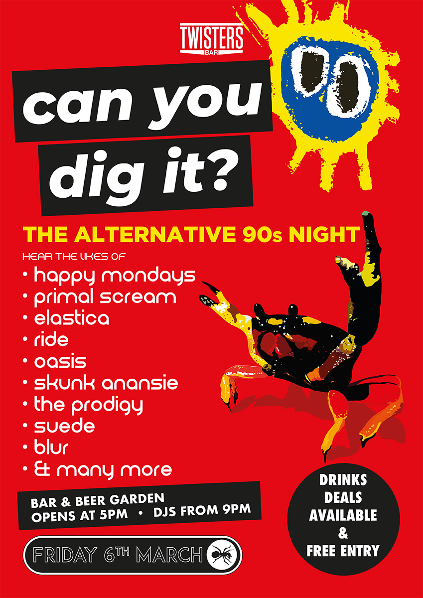 Can You Dig It? The Alternative 90s Night at Twisters Bar